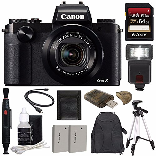 Canon PowerShot G5 X Digital Camera + Extra Battery + 64GB ...